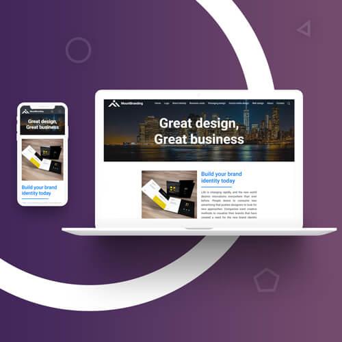 Разработка дизайн сайта и создание сайта в Ташкенте для Mountbranding.com