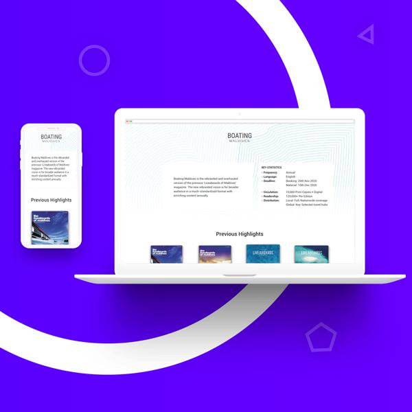 Разработка дизайн сайта и создание сайта в Узбекистане для boatingmaldives.com