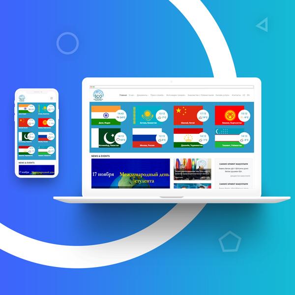Создание сайта и разработка дизайн сайта в Ташкенте для ШОС в Узбекистане – scocenter.uz