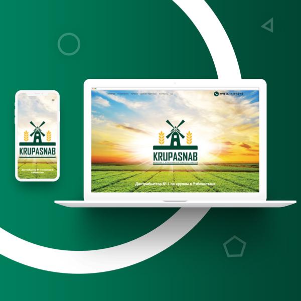 Создание сайта и разработка дизайн сайта в Ташкенте для kurpasnab.uz