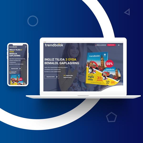 Создание сайта и разработка дизайн сайта в Ташкенте для trendbook.uz