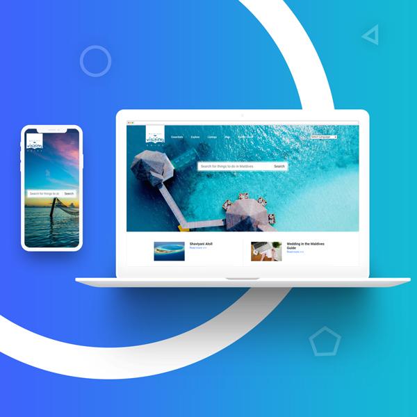 Создание сайта и разработка дизайн сайта в Ташкенте для visitingmaldives.com